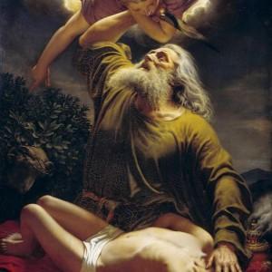 Авраам приносит Исаака в жертву. Е. Рейнтерн. 1849 г.