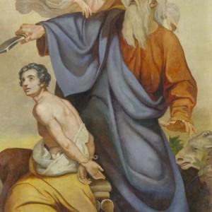 Авраам, приносящий в жертву Исаака. Е.  Плюшар. 1840-е гг. Исаакиевский собор, СПб