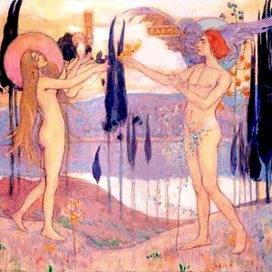 Адам и Ева. М.  Нестеров. 1898 г. Государственный русский музей, СПб