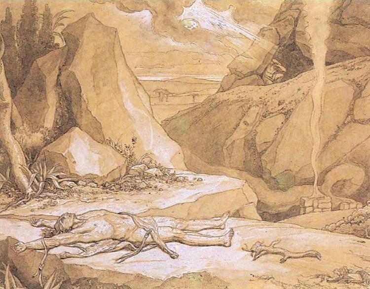 Первое убийство. Ф. Бруни. 1867 г.