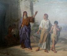 Авраам изгоняет из дома Агарь с сыном её Измаилом. И. Аскназий. 1878 г. Научно-исследовательский музей РАХ, СПб