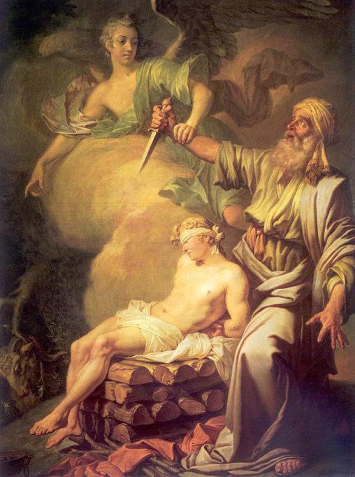 Авраам приносит в жертву сына своего Исаака)» 1765 г. Лосенко  Государственный Русский музей, Санкт-Петербург
