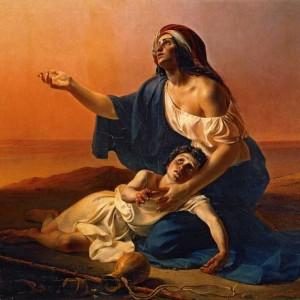 Агарь и Измаил в пустыне. 1841 г.  П. Петровсикй. ГТГ