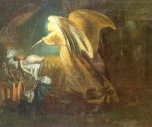 Ангел смерти истребляет первенцев египетских. И. Репин. 1865 г. Научно-исследовательский музей Российской Академии художеств, СПб