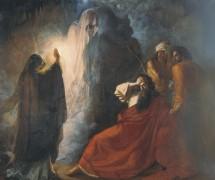 Аэндорская волшебница вызывает тень Самуила. Д. Мартынов. 1857 г. Ульяновский областной художественный музей