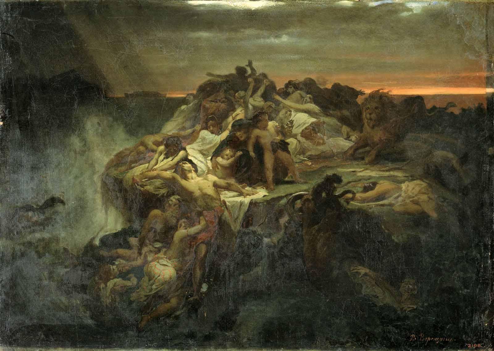 Всемирный потоп. Эскиз. В. П. Верещагин. 1869 г. Государственный Русский музей, СПб