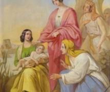Моисей в Ниле. Е. Плюшар. 1840-е гг. Исаакиевский собор