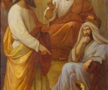 Моисей и Аарон перед фараоном. Е. Плюшар. 1840-е гг. Исаакиевский собор, СПб