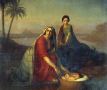 Моисей, опускаемый матерью на воды Нила. А. Тыранов. 1839–1842 гг. Государственная Третьяковская галерея