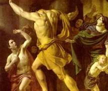 Самсон разрушает храм филистимлян. Ф. Завьялов. 1836 г.