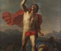Самсон утоляет жажду из ослиной челюсти. И. Чернов. 1800 г. Государственная Третьяковская галерея