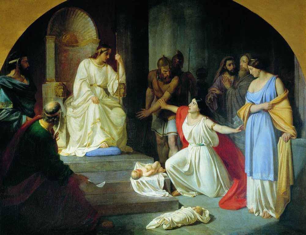 Суд царя Соломона. Н. Ге. 1854 г. Киевский национальный музей русского искусства