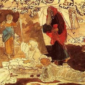 Три странника возвещают Аврааму о рождении Исаака. А. А. Иванов. Государственная Третьяковская галерея