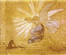Ангел отваливает камень. А. А. Иванов. 1850-е гг. ГТГ