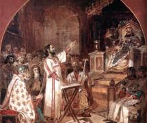 Апостол Павел. И. Суриков. 1876 г. Фрагмент росписи к храму Христа Спасителя