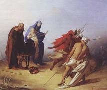 Бегство Святого семейства в Египет. А. Бейдеман. 1853 г.