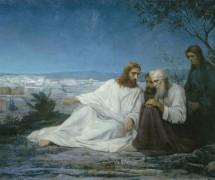 Беседа Христа с учениками. М. Боткин. 1867 г.