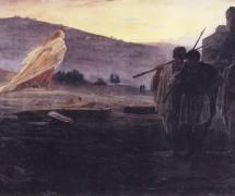 Вестники воскресения.  Н. Ге. 1867 г. ГТГ