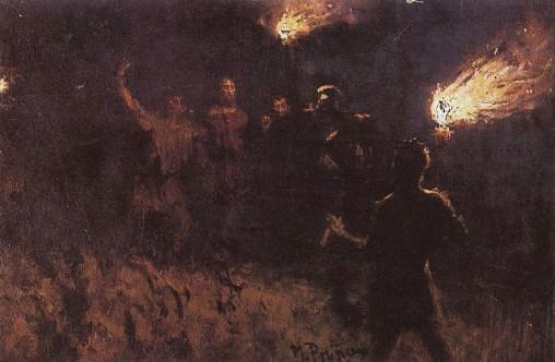Взятие Христа стражею. И. Репин. 1886 г.