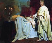 Воскрешение дочери Иаира. И. Репин. 1870 г.