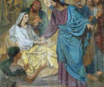 Воскрешение дочери Иаира. Мозаика по оригиналу Ф. Журавлёва. Ранее 1901 г.