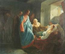 Воскрешение дочери Иаира. М. Зеленский. 1871 г.
