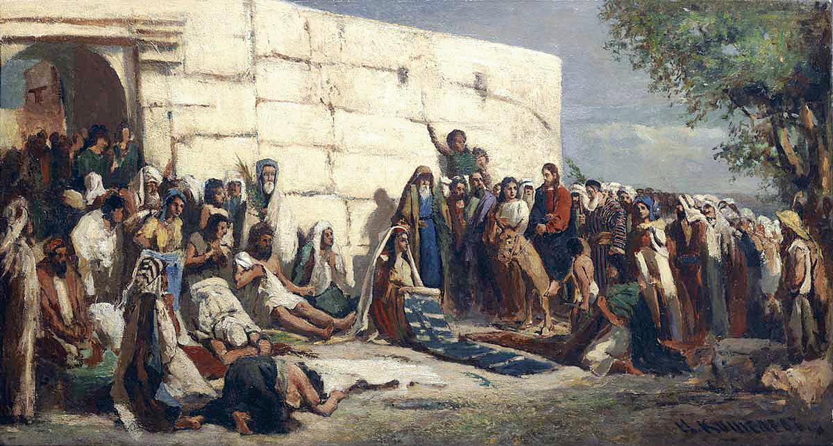 Вход Господень в Иерусалим. Н. Кошелев
