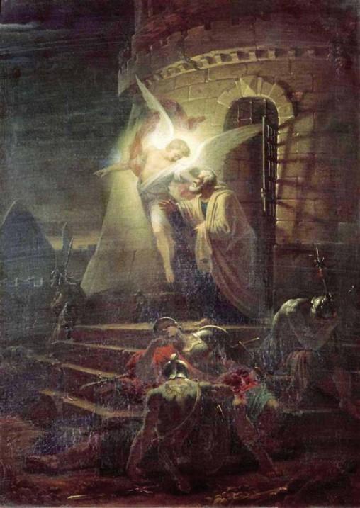 Изведение апостола Петра из темницы. А. Витберг. 1806 г. ГТГ