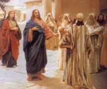 Иисус беседует с фарисеями. К. Лебедев