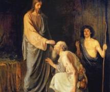 Исцеление двух слепых. А. Рябушкин. 1888 г.