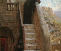 Марфа приняла Иисуса в дом свой. В. Поленов. 1890 г.
