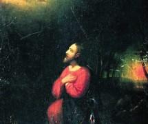 Моление о чаше. И. Репин. 1860-е гг.