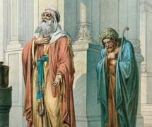 Мытарь и фарисей. В. Крюков