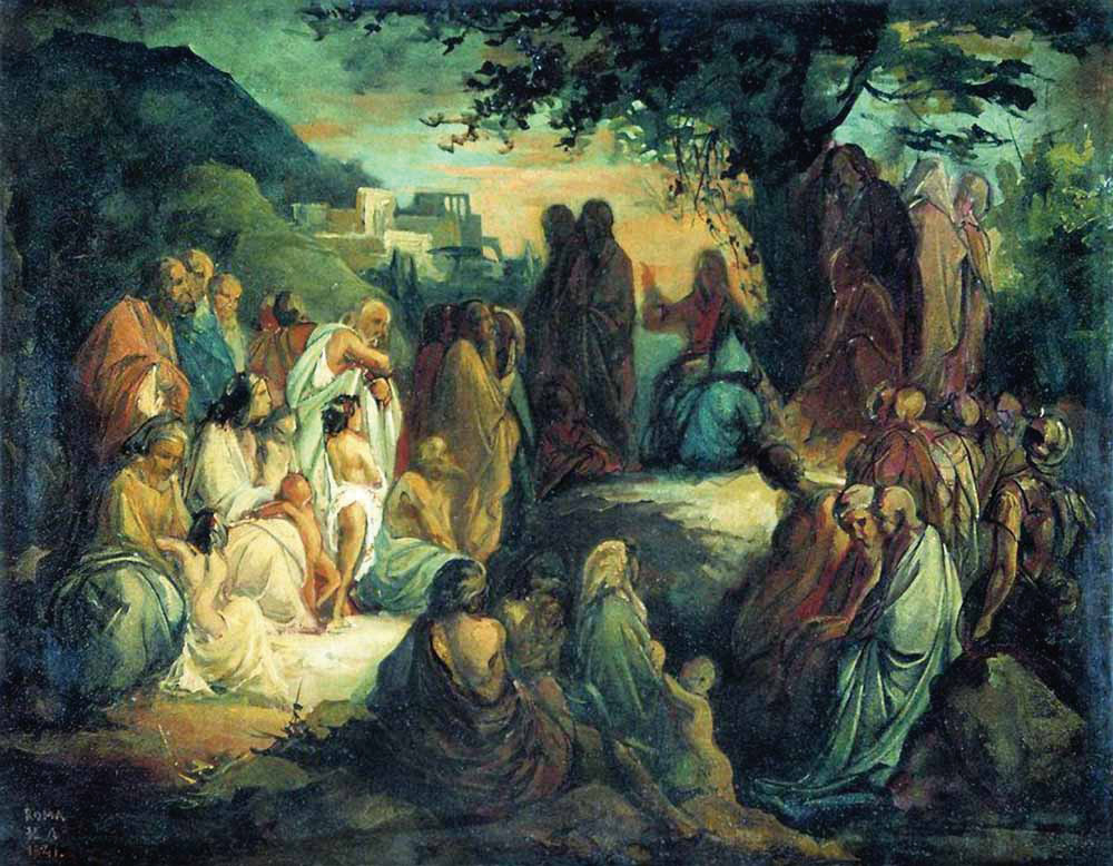 Нагорная проповедь. Н. Ломтев. Эскиз. 1841 г.