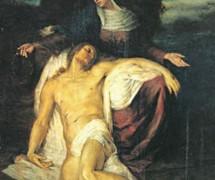 Оплакивание Христа (Богоматерь над телом Спасителя). П. Жуковский. 1876 г.