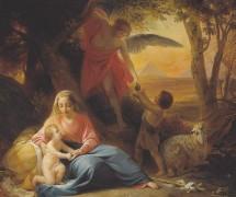 Отдых Святого семейства на  пути в Египет.  П. Басин.  1842–1843 гг. Государственная  Третьяковская галерея