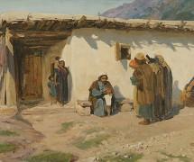 Привели детей. В. Поленов. 1899 г. Самарский областной художественный музей