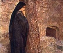 Стояла у гроба. В. Поленов. 1889–1909 гг.
