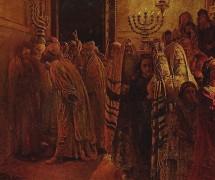 Суд синедриона. Повинен смерти! Н. Ге. 1892 г. Государственная Третьяковская галерея