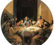 Тайная вечеря. Ф. Бруни. 1848 г. Государственный русский музей, СПб