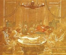 Тайна вечеря. А.А. Иванов. 1850-е гг.