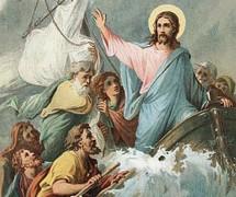 Укрощение Иисусом Христом бури. В. Крюков