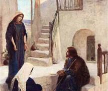 У Марии и Марфы. В. Поленов. 1889–1909 гг.