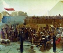 Хохот («Радуйся, царю иудейский»). И. Крамской. 1870–1880  гг.  ГРМ, СПб
