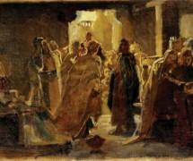 Христос в синагоге. Н. Ге. 1868 г.