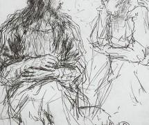 Христос и Никодим. И. Репин. 1887 г.