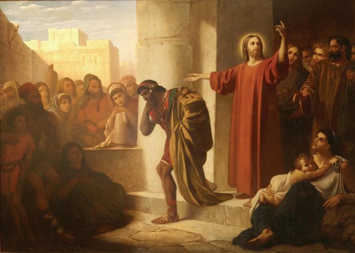 Христос и богатый юноша. Ф. Чумаков. 1866 г.