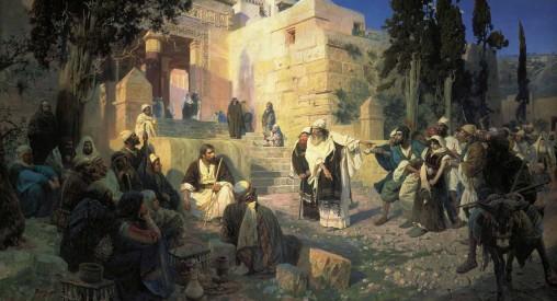 Христос и грешница (Кто из вас без греха). В. Поленов. 1888 г.