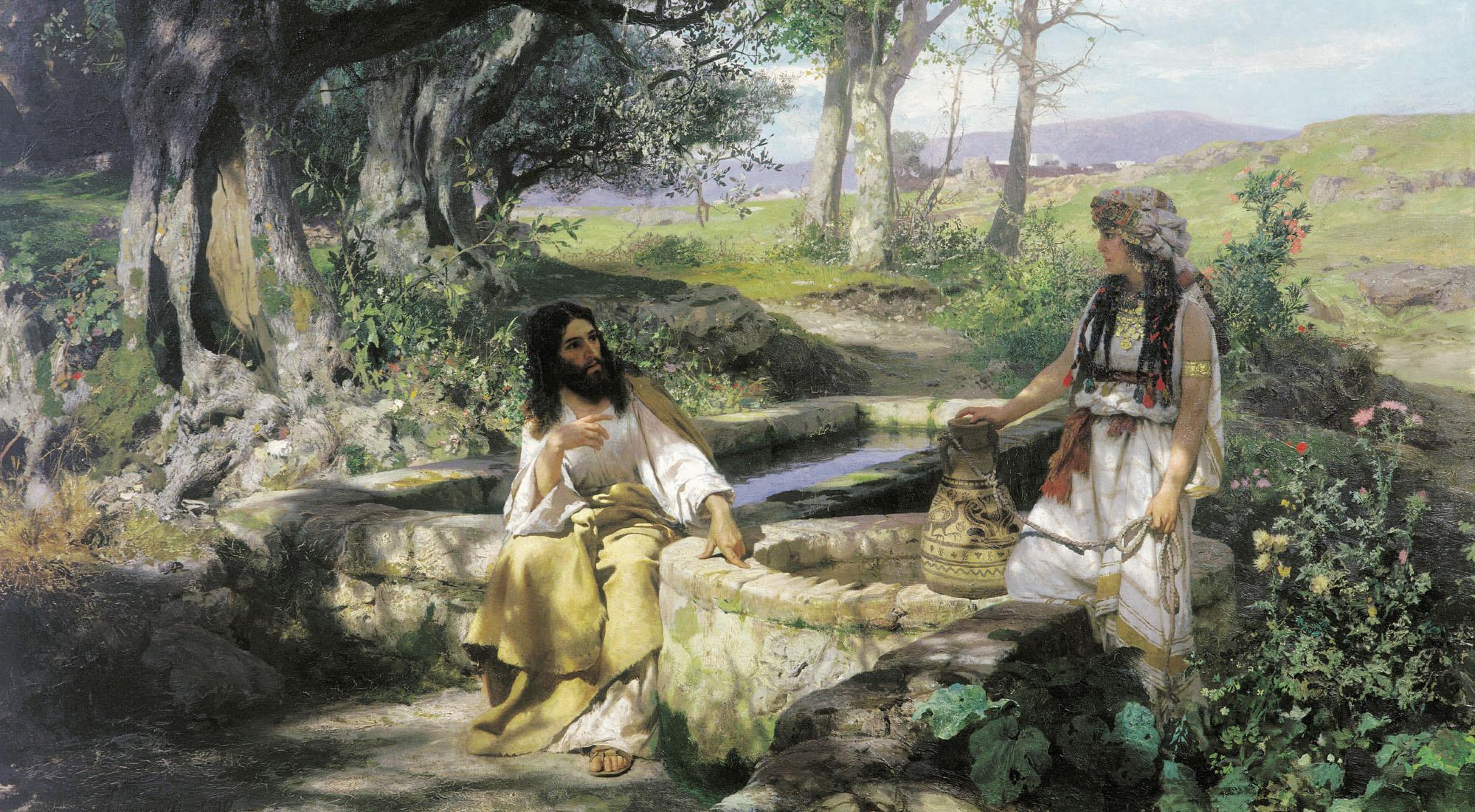 Картинки по запросу картины на библейские темы Христос и самарянка