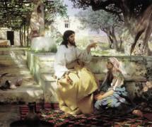 Христос у Марфы и Марии. Г. Семирадский. 1886 г.